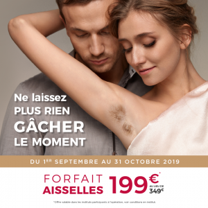 Epilation definitive aisselles septembre octobre Nuess